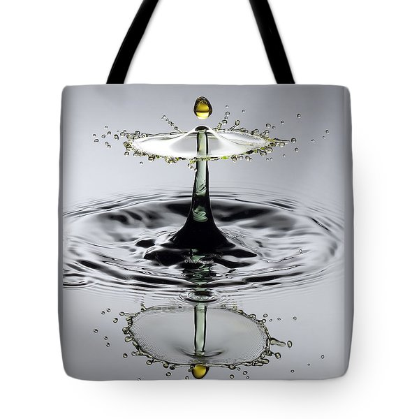 Splash Yellow And Green Tote Bag