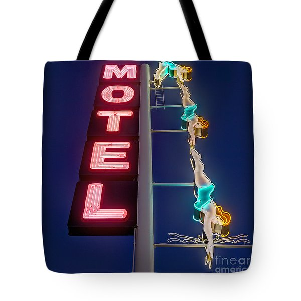 Splashdown Motel Tote Bag by Martin Konopacki