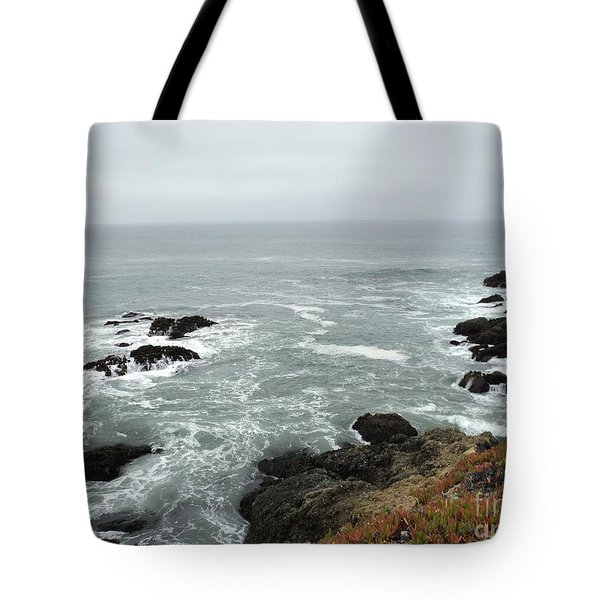 Tote Bag featuring the photograph Splashing Ocean Waves by Carla Carson