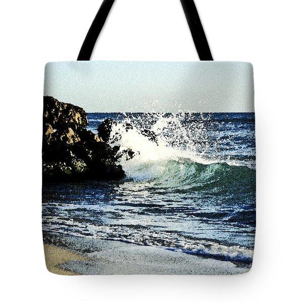 Splashing Wave Tote Bag