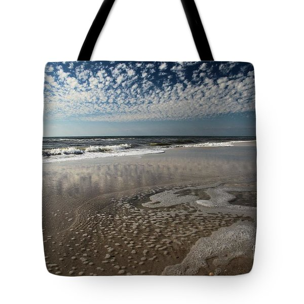 Splattered Clouds Tote Bag by Adam Jewell