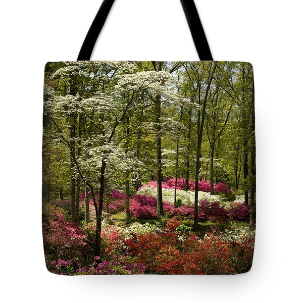 Splendor - Azalea Garden Tote Bag by Jane Eleanor Nicholas