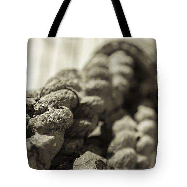 Spliced And Bound Black And White Sepia Tote Bag