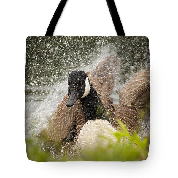 Splishing And Splashing Tote Bag
