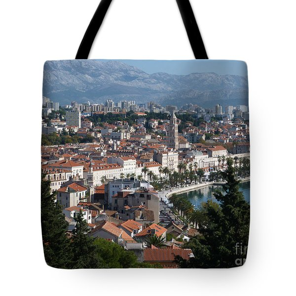Tote Bag featuring the photograph Split Panorama - Croatia by Phil Banks
