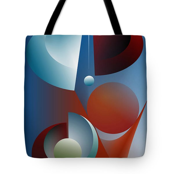 Tote Bag featuring the digital art Split Cycle by Leo Symon