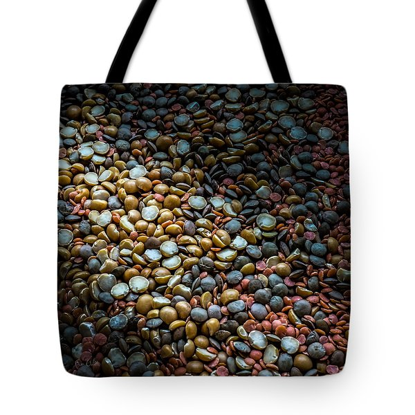 Split Pea Abstract Tote Bag by Bob Orsillo