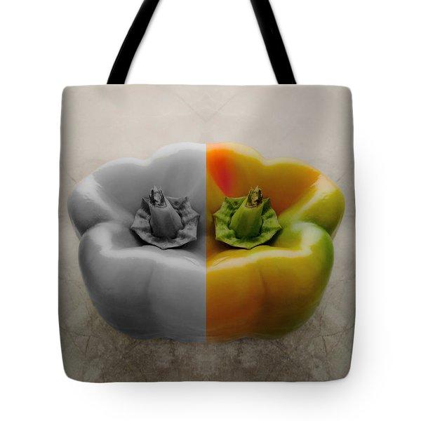 Split Pepper Tote Bag by Don Spenner