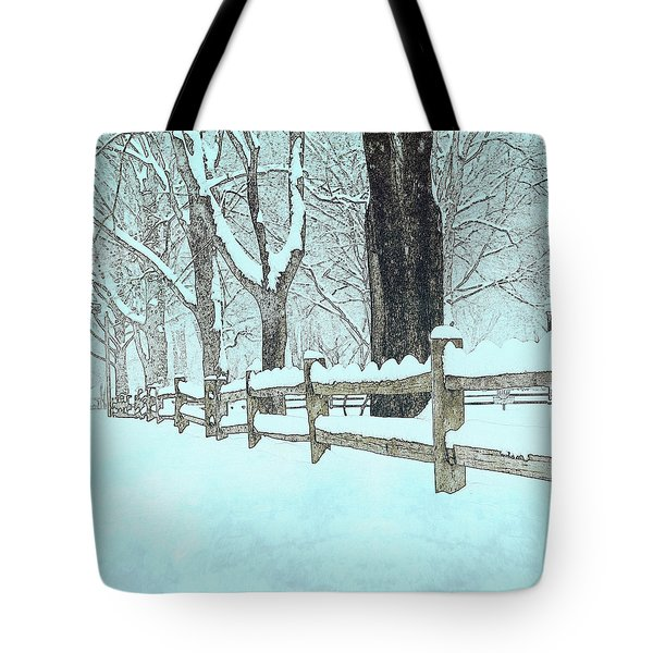Split Rail Blues Tote Bag by John Stephens