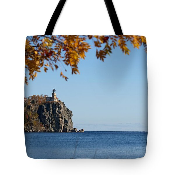 Tote Bag featuring the photograph Split Rock Leaves by James Peterson