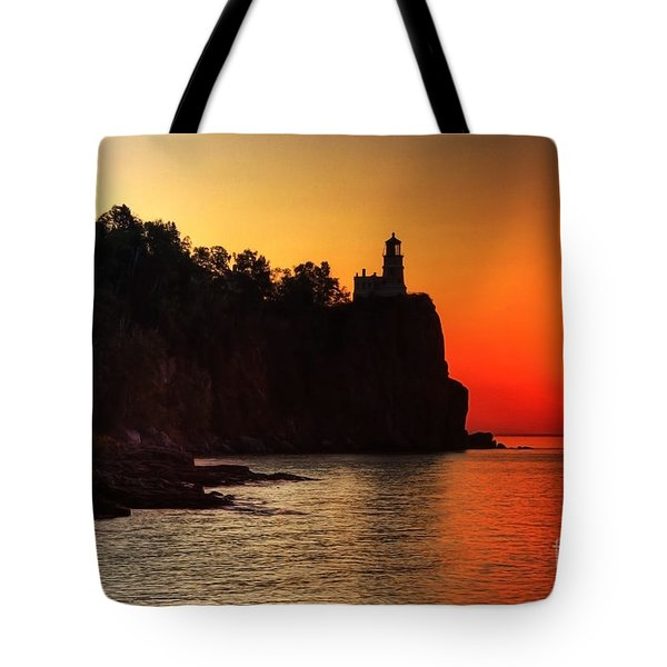 Split Rock Lighthouse - Sunrise Tote Bag