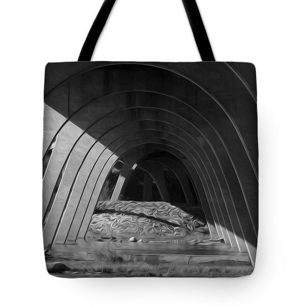 Tote Bag featuring the digital art Split Shade by Kelvin Booker