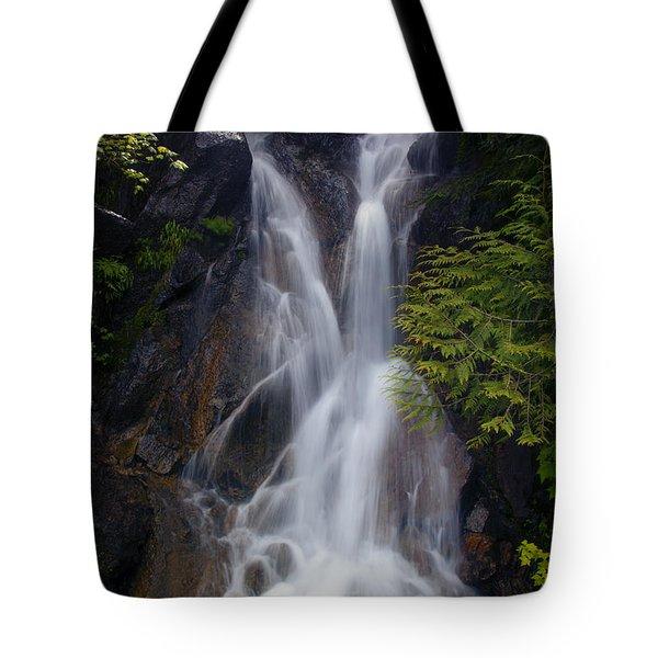 Split Top Falls Tote Bag by Mike  Dawson