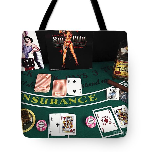Splitting Aces Tote Bag