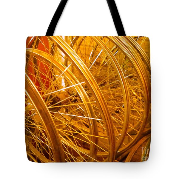 Spoke To Me Tote Bag by Cathy Dee Janes
