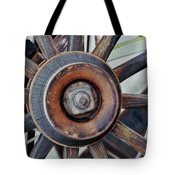 Spokes And Hub Tote Bag by Kae Cheatham