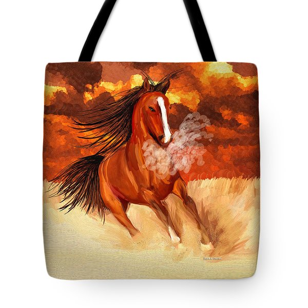 Spooked By The Storm Tote Bag by Angela A Stanton