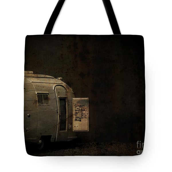 Spooky Airstream Campsite Tote Bag by Edward Fielding