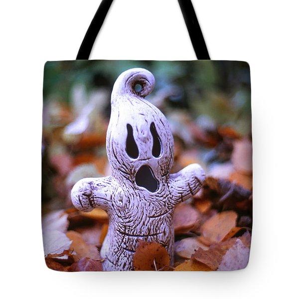 Spooky Autumn Tote Bag by Aaron Aldrich