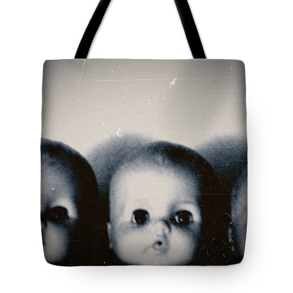 Spooky Doll Heads Tote Bag