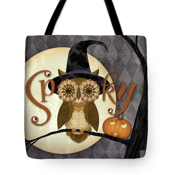 Spooky Owl Tote Bag