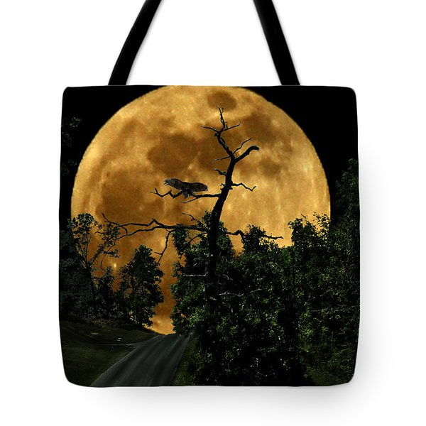 Spooky Road Tote Bag