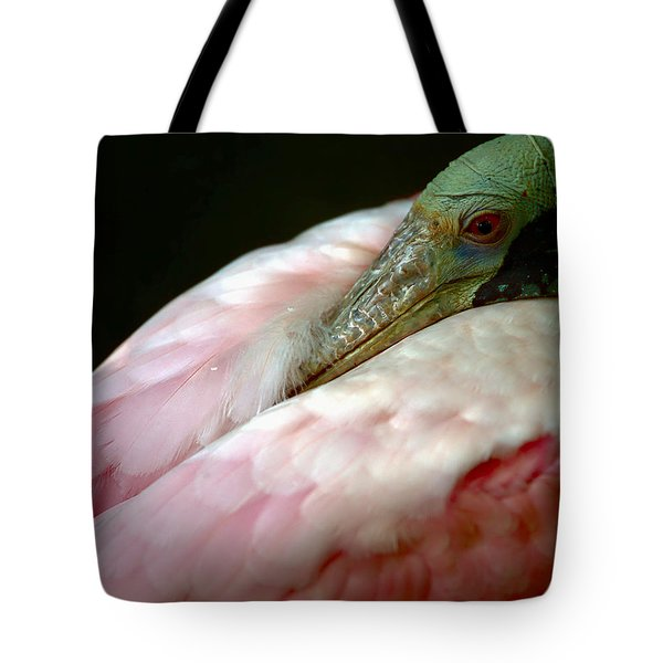 Spoonbill At Rest Tote Bag