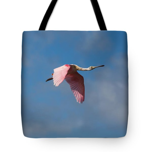 Tote Bag featuring the photograph Spoonie In Flight by John M Bailey