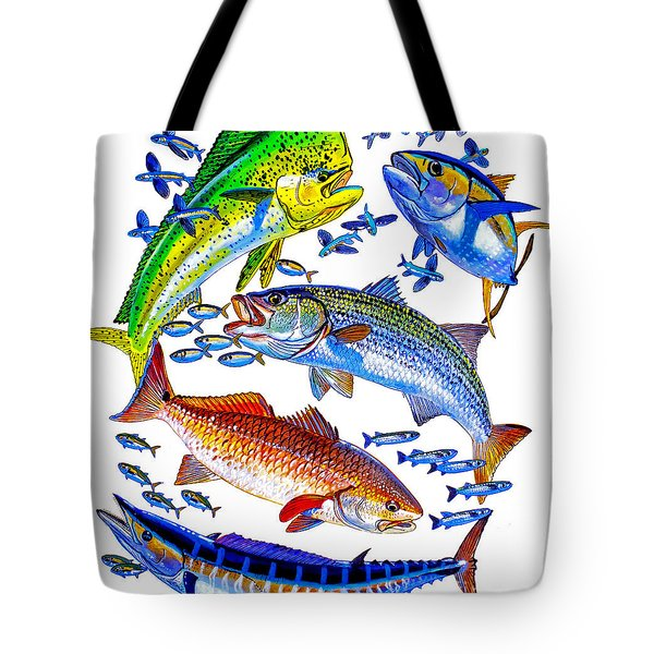 Sportfish Collage Tote Bag
