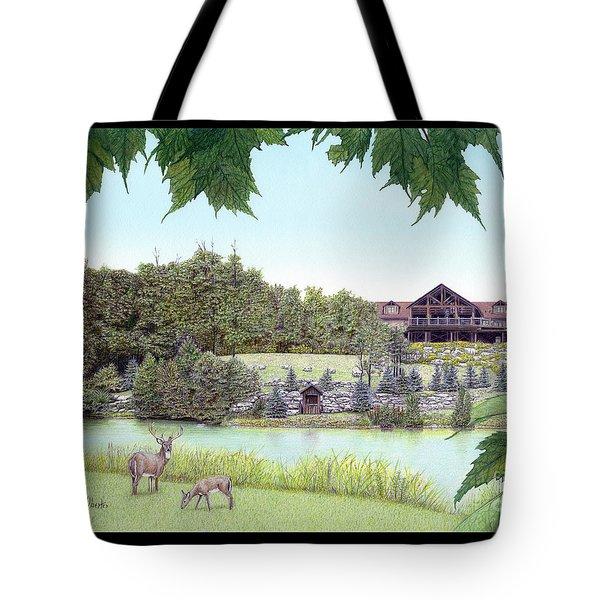 Sporting Clays At Seven Springs Mountain Resort Tote Bag by Albert Puskaric