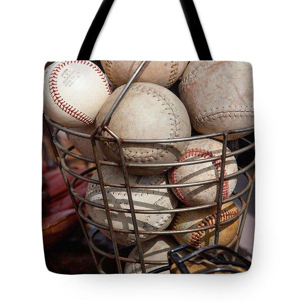 Sports - Baseballs And Softballs Tote Bag by Art Block Collections