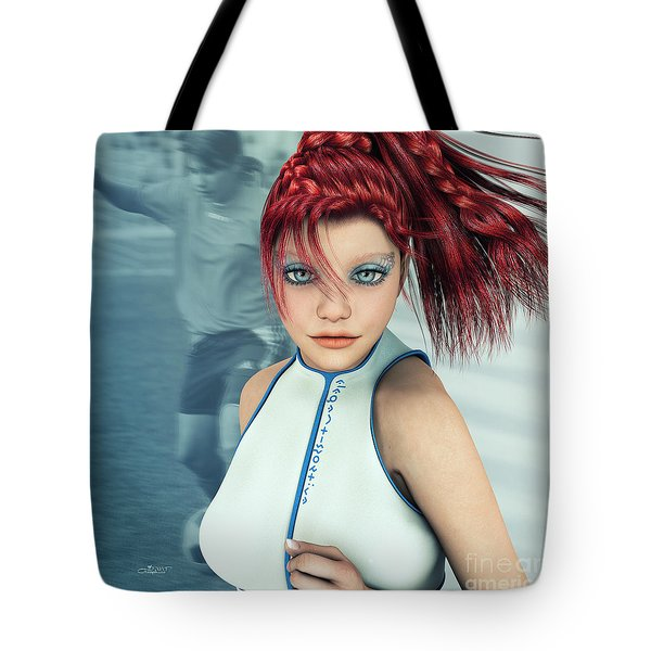 Sporty Girl Tote Bag by Jutta Maria Pusl