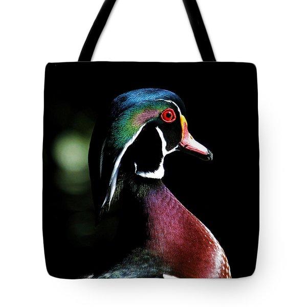 Spotlight Wood Duck Tote Bag by Steve McKinzie