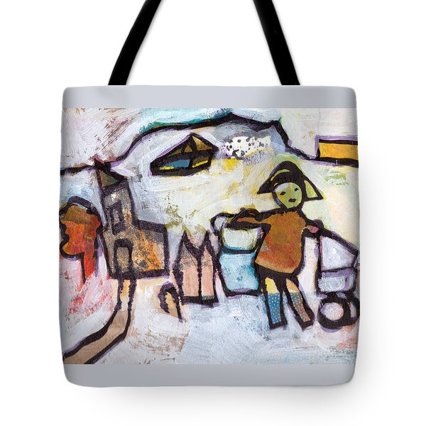 Spotted Boots Tote Bag by Catherine Redmayne