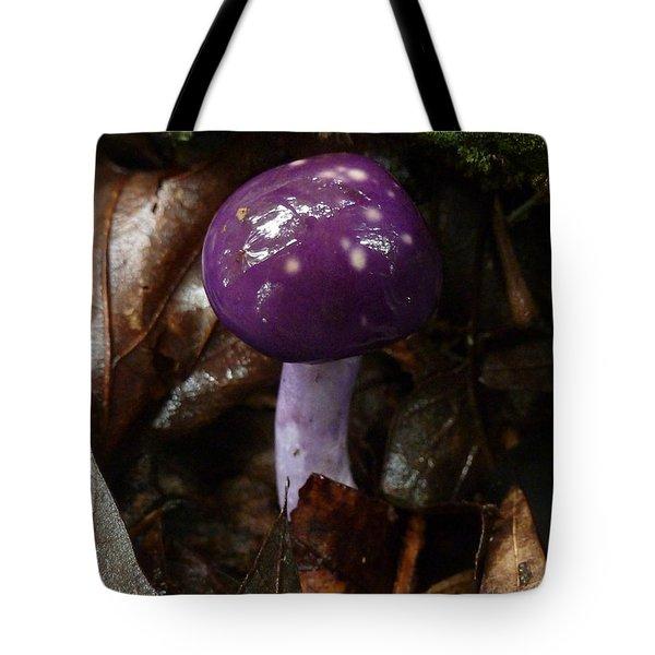 Spotted Cortinarius Mushroom Tote Bag