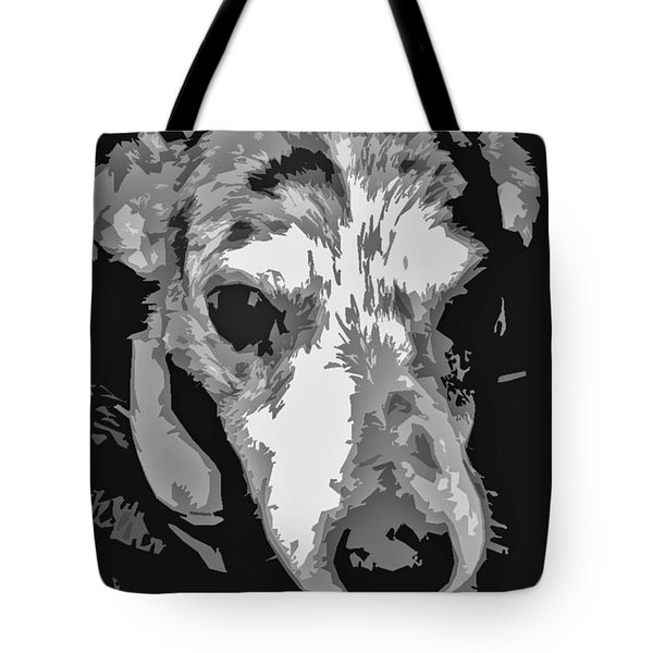 Spotted Dog Black And White Tote Bag by Minding My  Visions by Adri and Ray