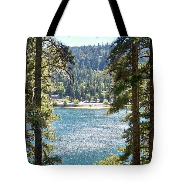 Forrest Mountain Trees Lake Scenic Photography Lake Gregory San Bernardino California - Ai P. Nilson Tote Bag