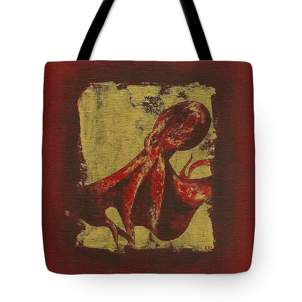 Spotted Red Octopus Tote Bag