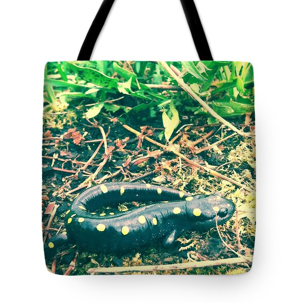 Spotted Salamander Retro Tote Bag