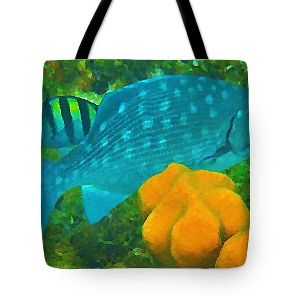 Spotted Surgeon Fish Tote Bag by John Malone
