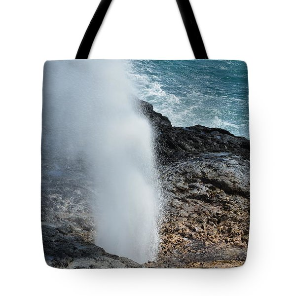 Spouting Horn Tote Bag
