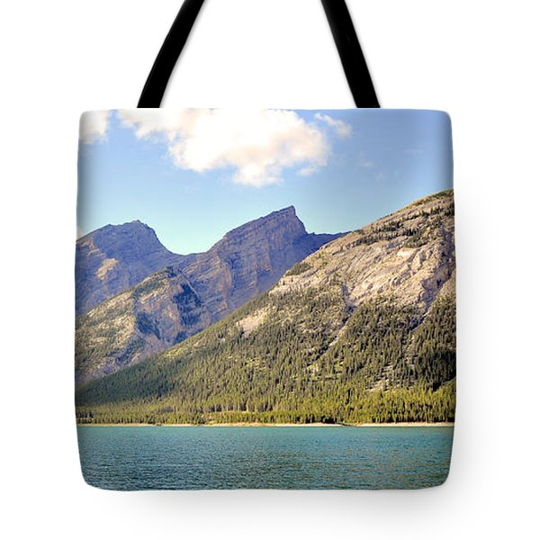 Spray Lake Mountains Tote Bag