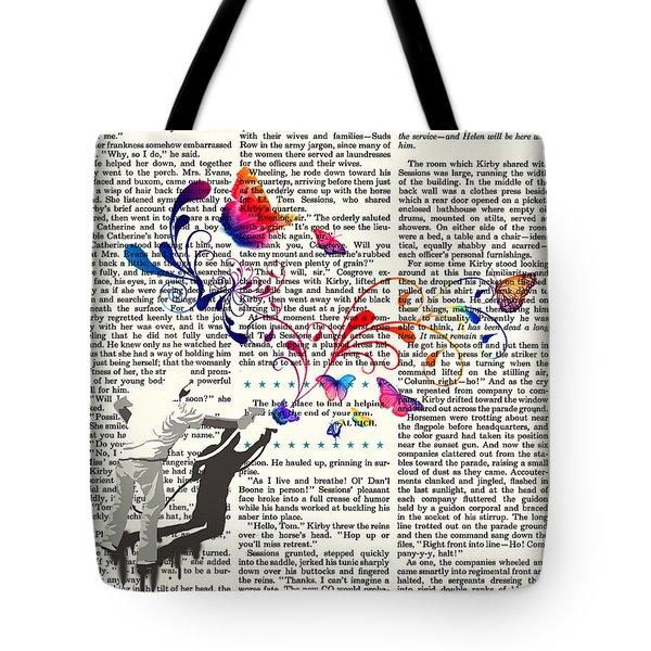 Spray Natura Graffiti Art Print Tote Bag