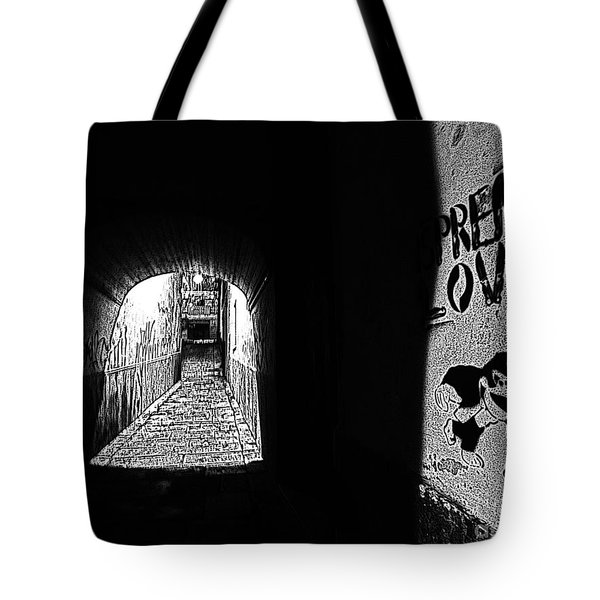 Spread Love Tote Bag by Andy Prendy