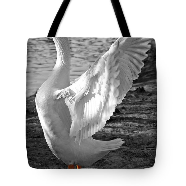 Spread Your Wings B And W Tote Bag by Lisa Phillips