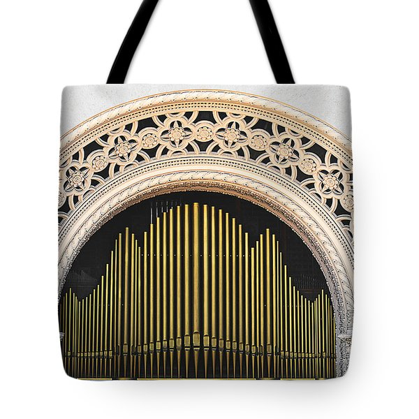Spreckels Organ Balboa Park San Diego Tote Bag by Christine Till