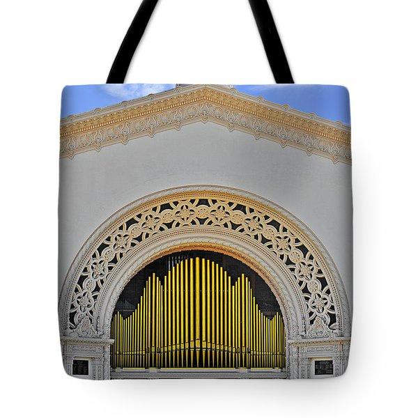 Spreckles Organ San Diego Tote Bag by Christine Till