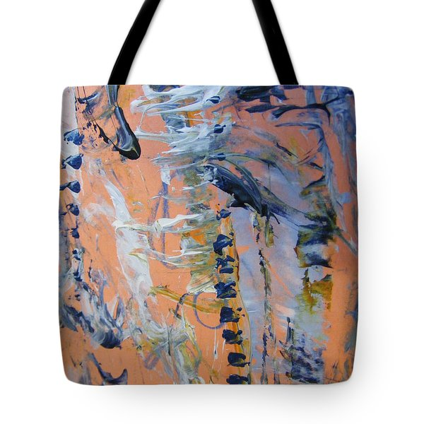 Tote Bag featuring the painting Spring 0 by Nancy Kane Chapman