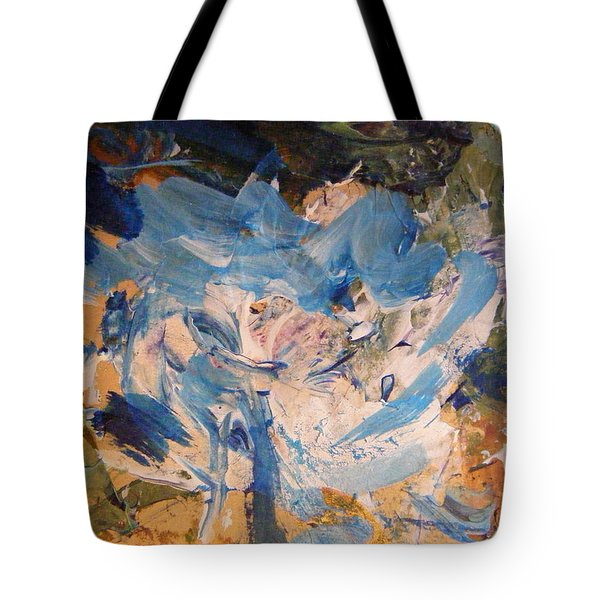 Tote Bag featuring the painting Spring 1 by Nancy Kane Chapman