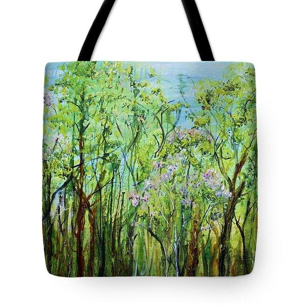 Spring Arpeggio Tote Bag by Regina Valluzzi